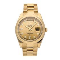 Rolex Day-Date II Yellow gold 41mm Champagne No numerals United States of America, Pennsylvania, Bala Cynwyd