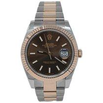Rolex Datejust II Gold/Steel 41mm Brown No numerals United States of America, California, Fullerton