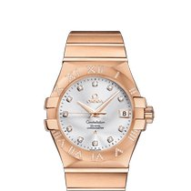 Omega Red gold Automatic Silver new Constellation Ladies