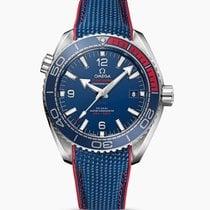 歐米茄 Seamaster Planet Ocean 鋼 43.5mm 藍色 阿拉伯數字 香港