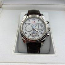 Omega De Ville Co-Axial gebraucht 41mm Weiß Chronograph Leder