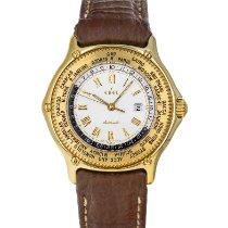 Ebel Voyager Желтое золото 39mm Белый Римские