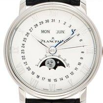 Blancpain Villeret Quantième Complet neu Automatik Uhr mit Original-Box und Original-Papieren 6654-1127-55B