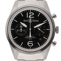 Bell & Ross BR V1 новые Автоподзавод Хронограф Часы с оригинальными документами и коробкой BRV126-BL-ST/SST