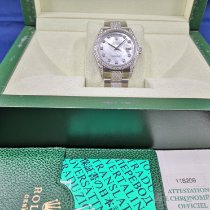 Rolex White gold 36mm Automatic Rolex Day-Date Customized Diamonds pre-owned