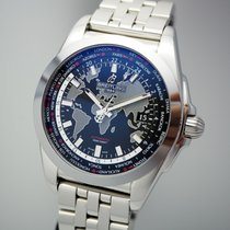 Breitling Galactic Unitime pre-owned Steel