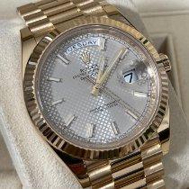 Rolex Day-Date 40 Желтое золото 40mm Cеребро Без цифр