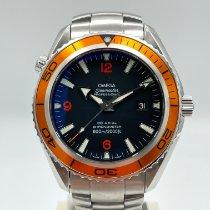 Omega Seamaster Planet Ocean gebraucht Schwarz Datum Stahl