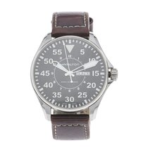 Hamilton Khaki Pilot Day Date pre-owned 46mm Leather