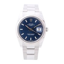 Rolex Oyster Perpetual Date Staal 34mm Blauw Nederland, Amsterdam
