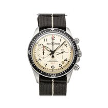 Bell & Ross BR V2 pre-owned 41mm Champagne Chronograph Date Textile
