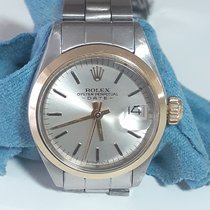 Rolex Oyster Perpetual Lady Date Złoto/Stal Srebrny