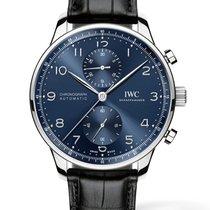 IWC Portuguese Chronograph Acél 41mm Kék Arab