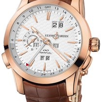 Ulysse Nardin Perpetual Manufacture Rose gold 43mm Silver (solid) No numerals
