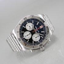 Breitling Chronomat Staal 42mm Zwart Geen cijfers