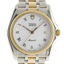 Tudor Monarch Gold/Steel 35mm White