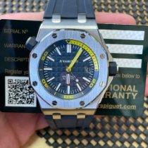 Audemars Piguet Royal Oak Offshore Diver Chronograph Otel 42mm Albastru Fara cifre