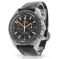 Omega Speedmaster Racing подержанные 44.2mm Черный Хронограф Дата Тахиметр Кожа