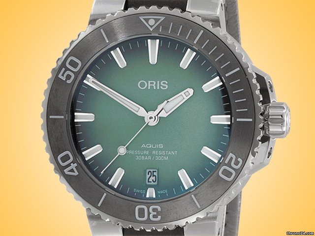 Oris Aquis Date 01 733 7732 4137-07 5 21 12FC new
