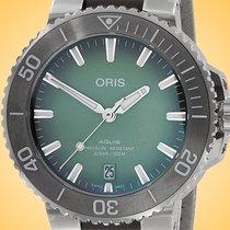 Oris Aquis Date Steel 39.5mm Green United States of America, Illinois, Northfield