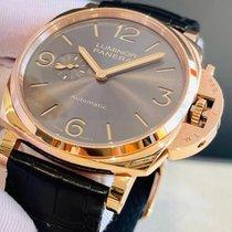 Panerai Red gold Automatic Grey Arabic numerals 45mm new Luminor Due