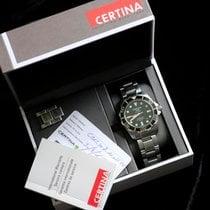 Certina DS Action Steel 43mm Black No numerals