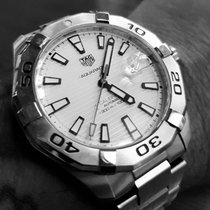 TAG Heuer Silver Automatic White pre-owned Aquaracer 300M