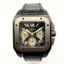 Cartier Titanium Automatic Black pre-owned Santos 100