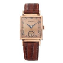 Hamilton Rose gold Manual winding Brown Roman numerals 24mm pre-owned