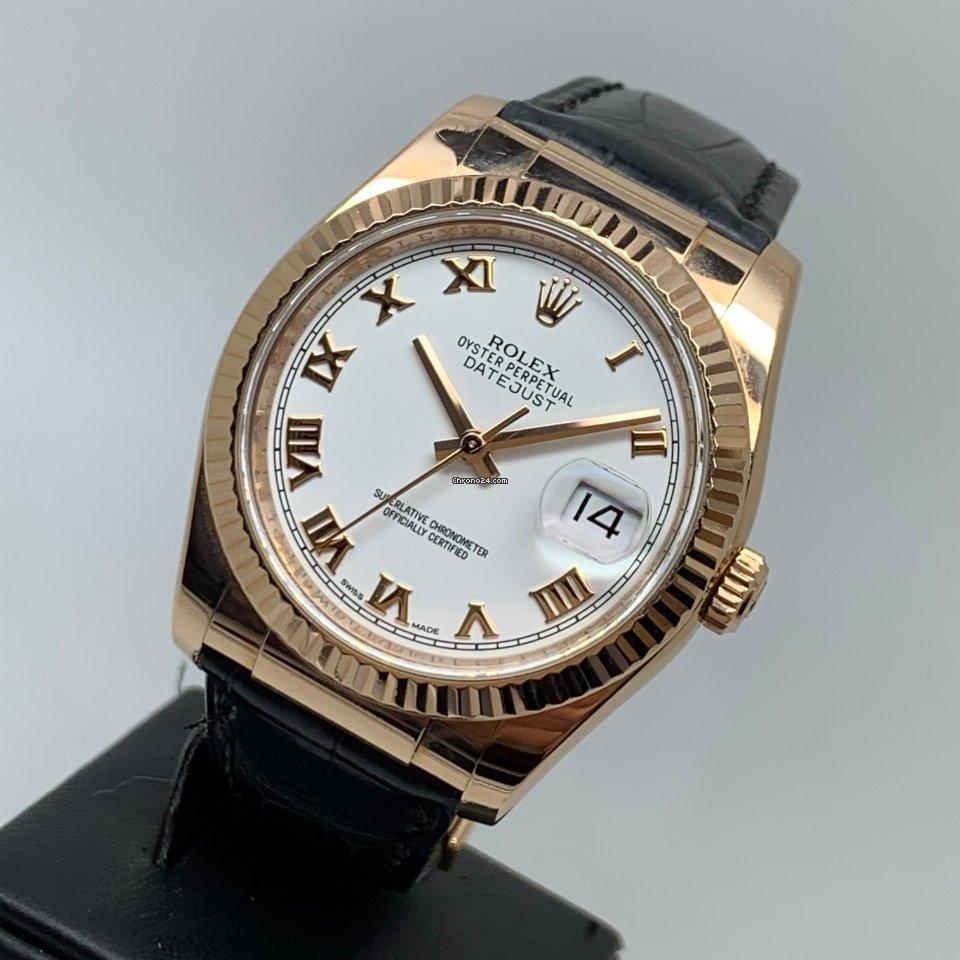 Rolex Datejust 36mm 18K Rose Gold FULL SET LC EU MINT UNPOLISHED