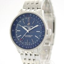 Breitling Steel Automatic Blue No numerals 35mm new Navitimer