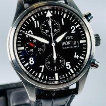 IWC Pilot Chronograph Ocel 42mm Černá Arabské
