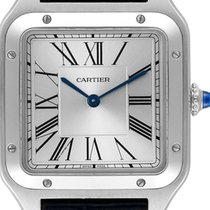 Cartier Santos Dumont Steel 43.5mm Silver Roman numerals United States of America, Florida, Hollywood