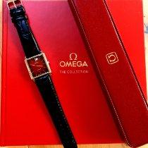 Omega De Ville подержанные 30mm Красный Кожа