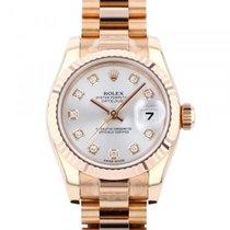 Rolex Złoto czerwone Automatyczny Srebrny 26mm nowość Lady-Datejust