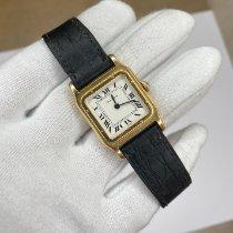 Cartier Желтое золото Механические Белый 25mm подержанные Santos Dumont
