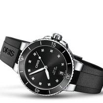 Oris Aquis Date Steel 36.5mm Black No numerals