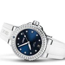 Oris Aquis Date Steel 36.5mm Blue No numerals