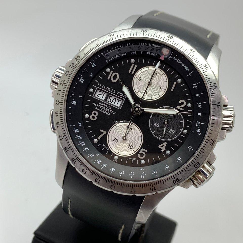 Hamilton Khaki X-wind H77616133 Steel Bracelet and Leather Strap FULL SET LC EU