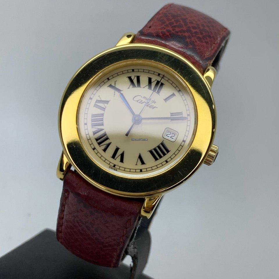 Cartier De Cartier Ronde Must 1800/1 Gold Plated 33mm