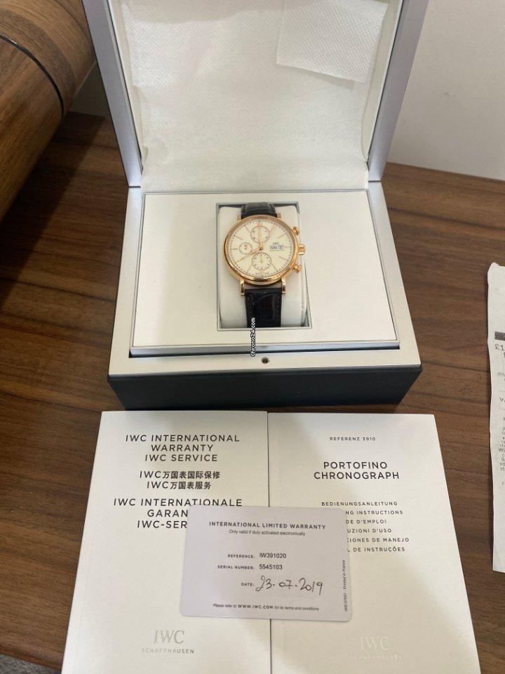 IWC Portofino Chronograph IW391025 2019 подержанные