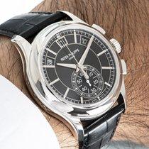 Patek Philippe Annual Calendar Chronograph Платина 42mm Черный