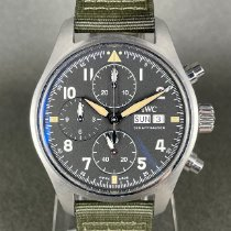 IWC Pilot Spitfire Chronograph pre-owned 41mm Black Chronograph Date Weekday Textile