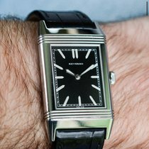 Jaeger-LeCoultre Grande Reverso Ultra Thin 1931 Steel 46mm Black No numerals