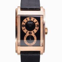 Rolex Cellini Prince Rosa guld 28mm Sort