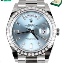 Rolex Day-Date 40 Platinum 40mm Blue United States of America, New York, Smithtown