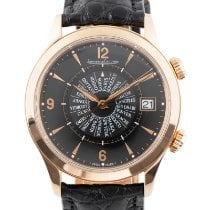 Jaeger-LeCoultre Red gold Automatic Black 40mm pre-owned Master Memovox