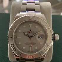 Rolex Platinum Automatic Silver No numerals 40mm pre-owned Yacht-Master 40