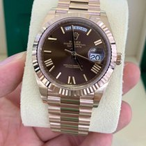 Rolex Day-Date 40 Rose gold 40mm Brown Thailand, Phayathai