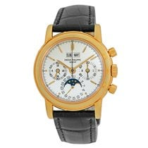Patek Philippe Perpetual Calendar Chronograph pre-owned 36mm Moon phase Chronograph Date Month Year 4-year calendar Perpetual calendar Fold clasp